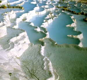 Travertines, Pamukkale, Turkey http://www.shutterstock.com/pic-96145673/stock-photo-travertine-pools-and-terraces-  pamukkale-turkey-world-heritage-site-by-unesco.html?src=EoslOTTXlawzt3YzTvYCyA-1-31